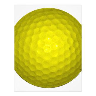 Bola de golfe amarela brilhante modelos de papel de carta