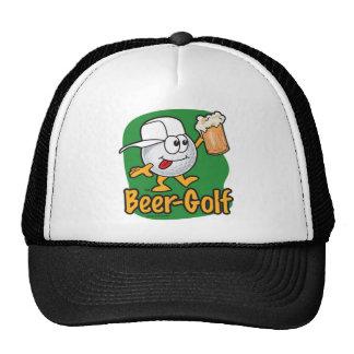 Bola de golfe bêbeda dos desenhos animados do golf boné