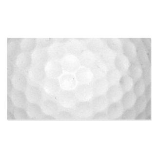 Bola de golfe modelo cartões de visitas