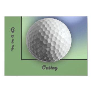 Bola de golfe convite 12.7 x 17.78cm