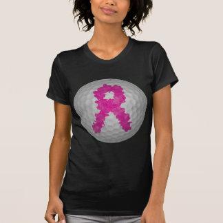 Bola de golfe da consciência do cancro da mama camiseta