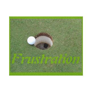 Bola de golfe na lona envolvida bordo impressão de canvas envolvida