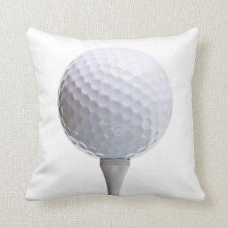 Bola de golfe & T no modelo personalizado branco Almofada