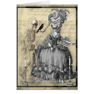 Bola de mascarada do Dia das Bruxas Cartão Comemorativo
