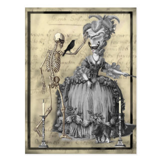 Bola de mascarada do Dia das Bruxas Cartão Postal