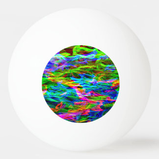 Bola De Ping-pong Abstrato de incandescência do arco-íris