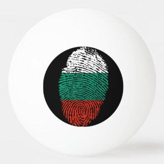 Bola De Ping-pong Bandeira búlgara da impressão digital do toque
