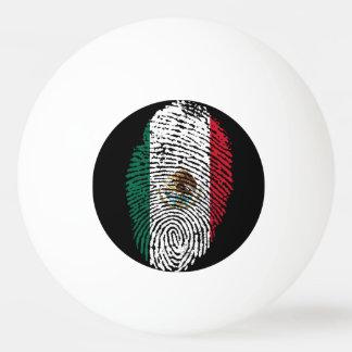 Bola De Ping Pong Bandeira mexicana da impressão digital do toque