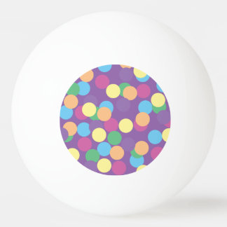 Bola De Ping-pong Bolinhas azuis & roxas verdes amarelos alaranjado