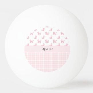 Bola De Ping Pong Caniches & verificações cor-de-rosa do rosa