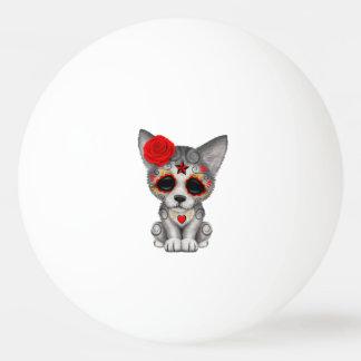 Bola De Ping-pong Dia vermelho do lobo Cub inoperante