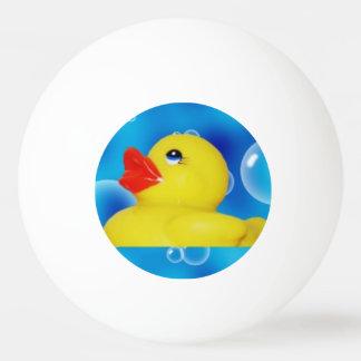Bola De Ping Pong Ducky de borracha amarelo nas bolhas