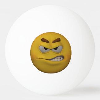 Bola De Ping Pong Emoticon irritado do estilo 3D