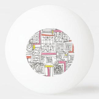 Bola De Ping-pong Fora do Doodle geométrico do Caixa-Abstrato