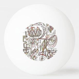 Bola De Ping-pong Geométrico abstrato Rapsódia-Lunático