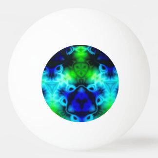 Bola De Ping-pong Imagem do caleidoscópio com azuis e gree