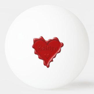 Bola De Ping-pong Kaitlyn. Selo vermelho da cera do coração com