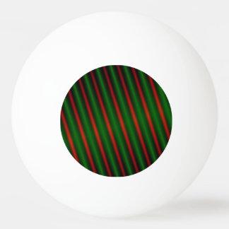Bola De Ping Pong Listras/linhas vermelhas & verdes teste padrão