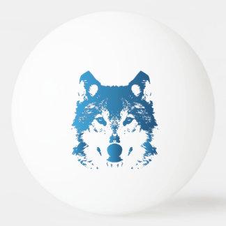 Bola De Ping Pong Lobo do azul de gelo da ilustração
