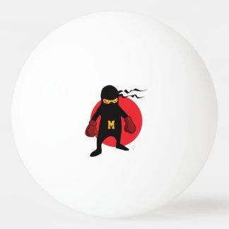 Bola De Ping Pong Monograma. Kawaii Ninja bonito para o Geek. do