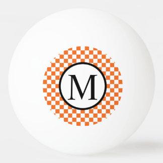 Bola De Ping Pong Monograma simples com tabuleiro de damas
