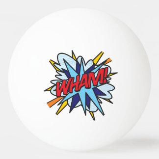 Bola De Ping-pong O pop art da banda desenhada WHAM GOLPE