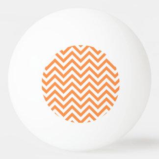 Bola De Ping-pong O ziguezague alaranjado e branco listra o teste