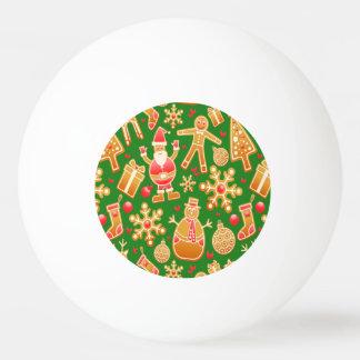 Bola De Ping-pong Papai noel e pão-de-espécie festivos do boneco de
