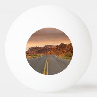 Bola De Ping-pong Por do sol da viagem por estrada