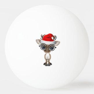 Bola De Ping-pong Rena Nerdy do bebê que veste um chapéu do papai