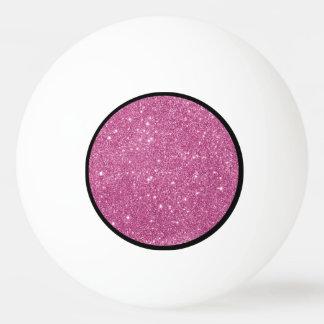 Bola De Ping-pong Sparkles do brilho do rosa quente