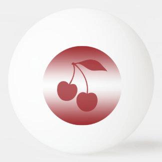 Bola De Ping Pong Vermelho de cereja ao inclinação branco