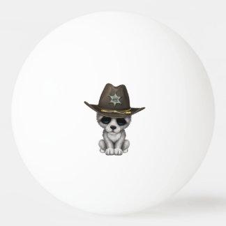 Bola De Ping-pong Xerife bonito do lobo do bebê