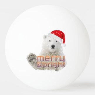 Bola de Pong do sibilo do Natal do urso polar |