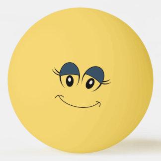Bola de Pong do sibilo do smiley face da menina