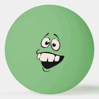 Bola de Pong do sibilo do smiley face dos dentes