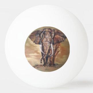 Bola de ténis de mesa do elefante