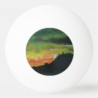 Bola de ténis de mesa do por do sol 2