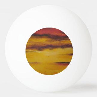 Bola de ténis de mesa do por do sol 5