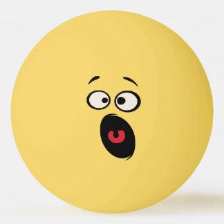 Bola de ténis de mesa engraçada Scared da cara