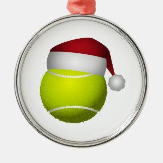 Bola de tênis do Natal Ornamento Redondo Cor Prata