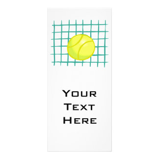 bola de tênis e gráfico simples líquido panfletos informativos