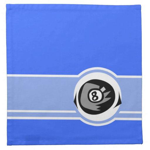 Bola do azul 8 guardanapo impresso