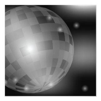 Bola do disco convite quadrado 13.35 x 13.35cm