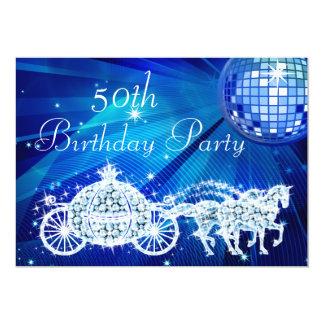 Bola do disco, princesa Treinamento & aniversário Convite 12.7 X 17.78cm