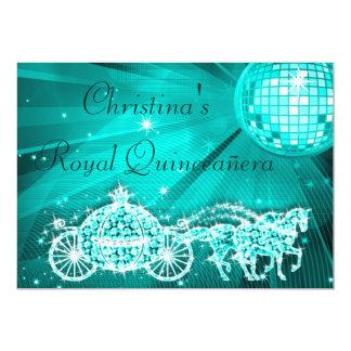 Bola do disco, princesa Treinamento & cavalos Convites Personalizado