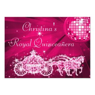 Bola do disco, princesa Treinamento & cavalos Convite 12.7 X 17.78cm