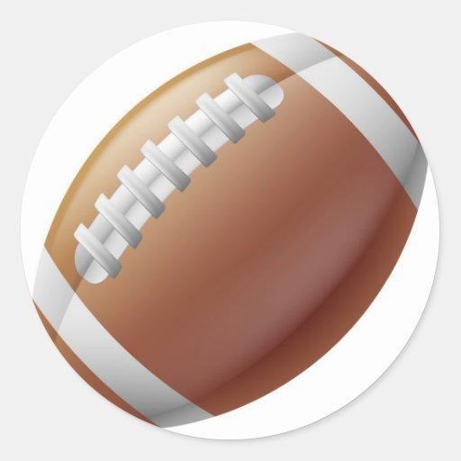 Bola do futebol americano adesivos redondos