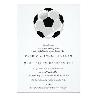 Bola do futebol do futebol do futebol convite 12.7 x 17.78cm