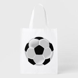 Bola do futebol do futebol do futebol sacola reusável